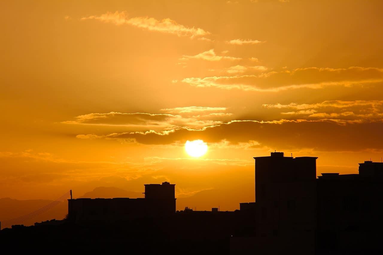 muscat sunset