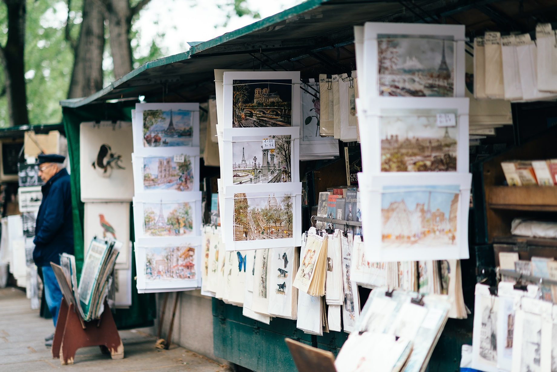 postcard Paris books