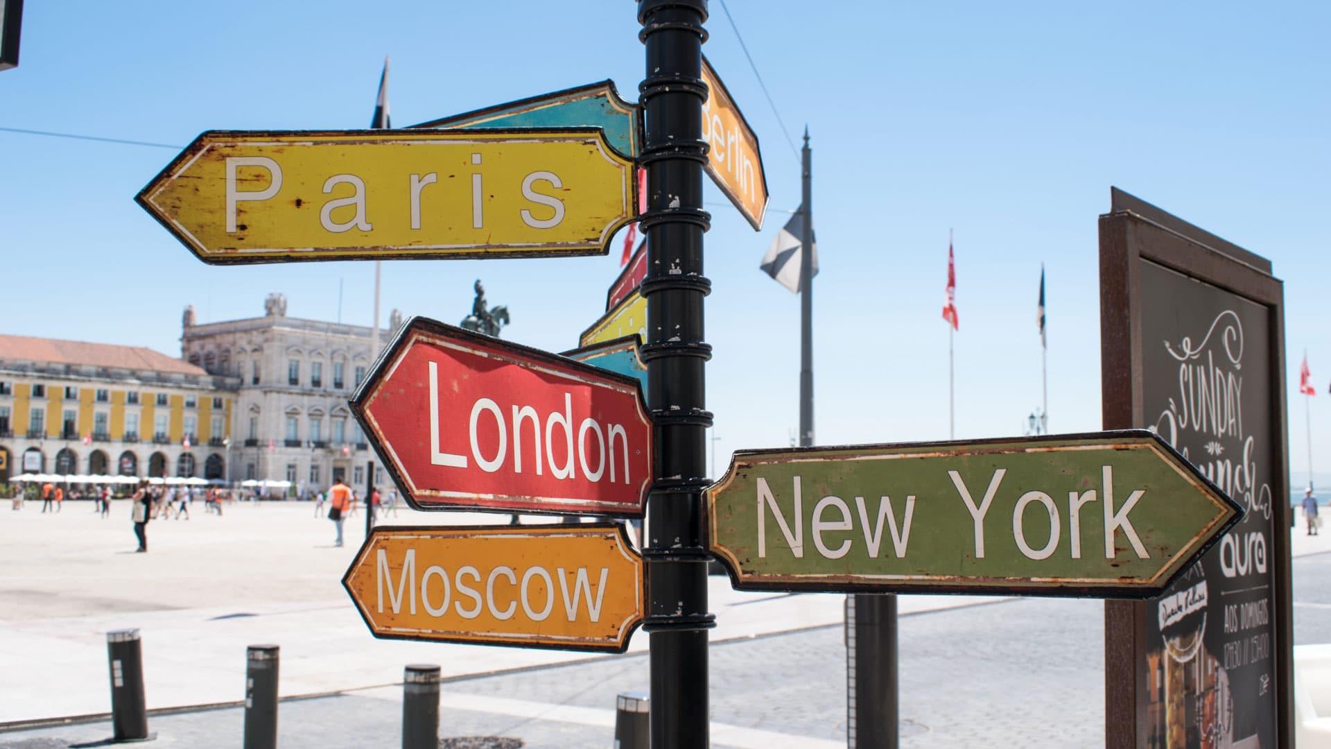 Capital City Sign Post