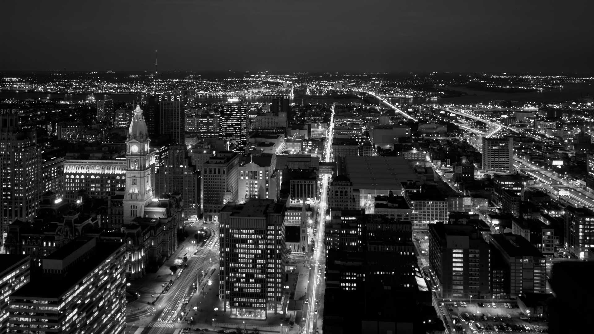 philadelphian city at night