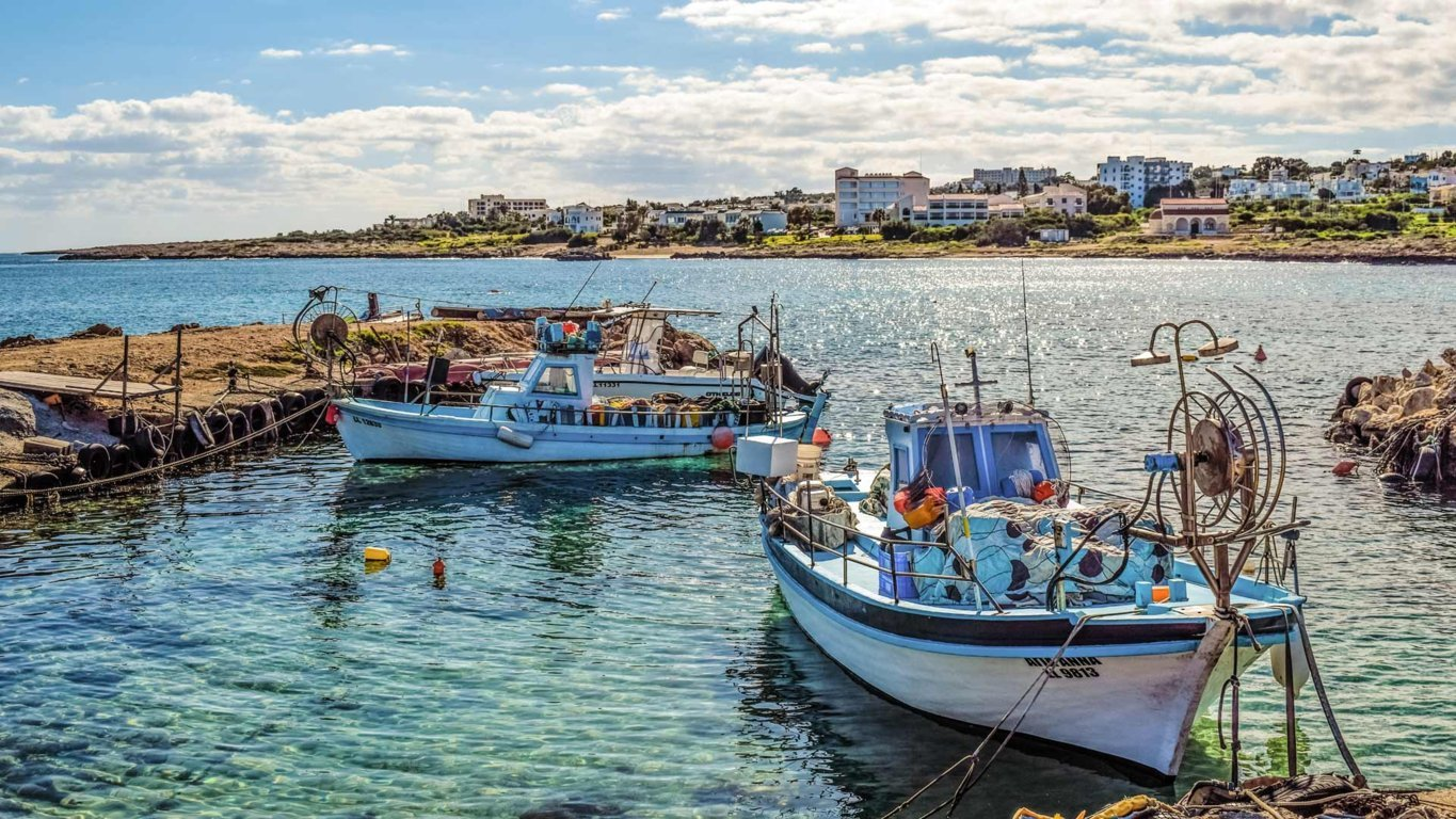 Cyprus Sea with Boats