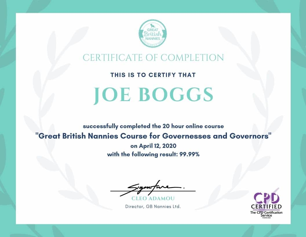 governess course certificate