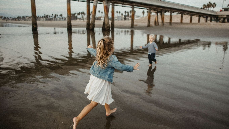 seaside trip with children